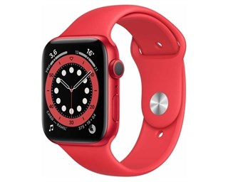 Apple Watch Series 6 Aluminum Case Red 44mm with Red Sport Band