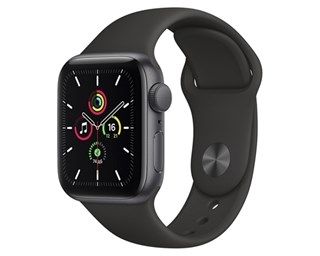 Apple Watch SE Aluminum Case Gray 40mm with Black Sport Band