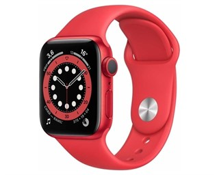 Apple Watch Series 6 Aluminum Case Red 40mm with Red Sport Band